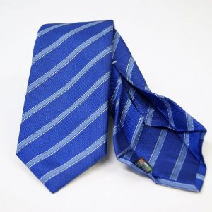 Jacquard - Sevenfold ties – electric blue background – COD.7P009 - 100% silk - made in Italy