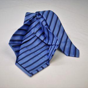 Cravatta Settepieghe - Jacquard – fondo azzurro – COD.7P005 – seta 100% - made in Italy 2