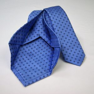 Jacquard - Sevenfold ties – light blue background – COD.7P006 - 100% silk - made in Italy 2