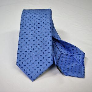 Jacquard - Sevenfold ties – light blue background – COD.7P006 - 100% silk - made in Italy