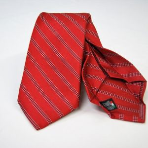 Jacquard - Sevenfold ties – red background – COD.7P017 - 100% silk - made in Italy