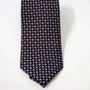 Cravatta - Twill – fondo marrone – disegno classico - COD.N095 – seta 100% - made in Italy 2