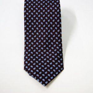 Cravatta - Twill – fondo marrone – disegno classico - COD.N096 – seta 100% - made in Italy 2
