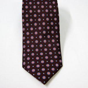 Cravatta - Twill – fondo marrone – disegno classico - COD.N097 – seta 100% - made in Italy 2